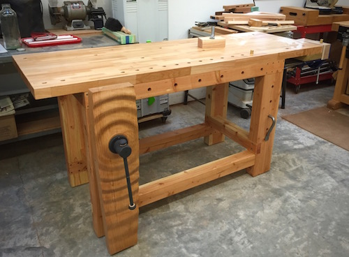 the barn bench a hand tool power tool workbench - Workbench Design Ideas