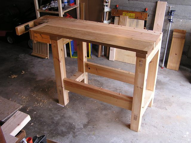 Build wooden small workbench plans plans download small for Working table design ideas